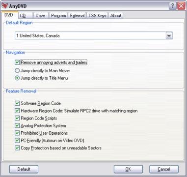 AnyDVD Screenshot