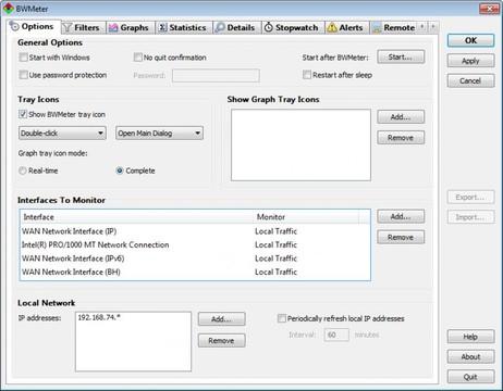 BWMeter App for Windows Preview