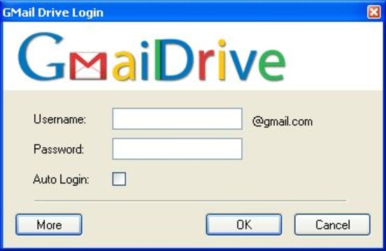 GMail Drive Screenshot