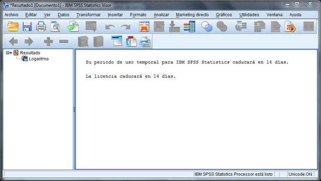 IBM SPSS Statistics Base Screenshot