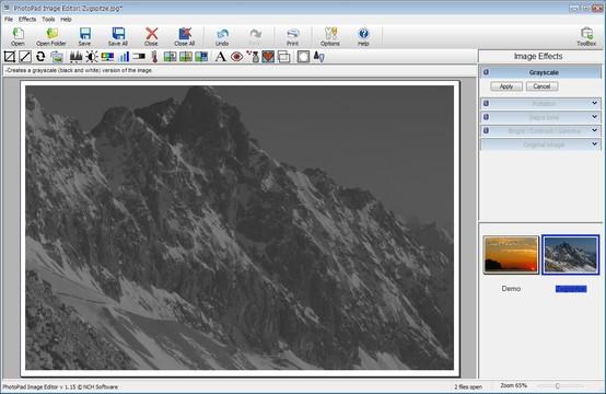 PhotoPad Image Editor Screenshot