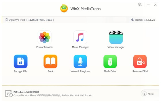 WinX MediaTrans Screenshot