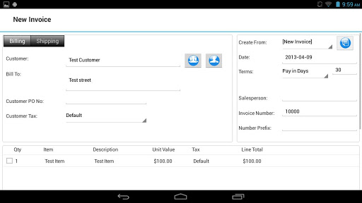 Express Invoice Invoicing Free 5.04 preview 2