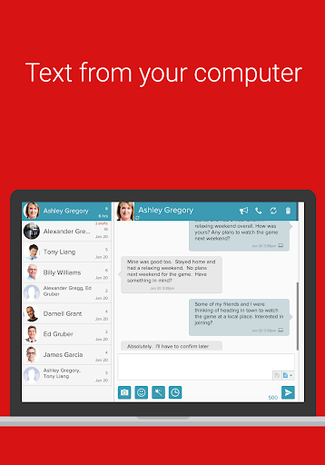 SMS from PC Tablet amp Sync Text from Computer 15.09 preview 2