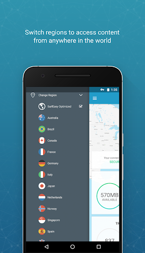 SurfEasy Secure Android VPN 4.1.1 preview 1